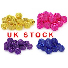 Mesh beads for brancelet and charm variety of colours