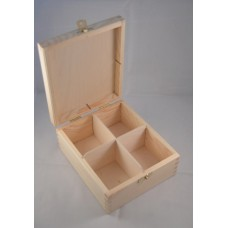 Large tea craft box 4 spaces